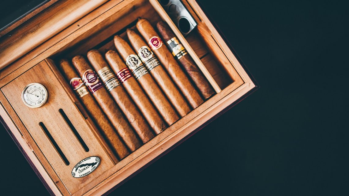 Cigars in a vintage box