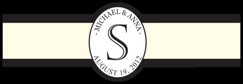 Modern Cream & Black Cigar Label