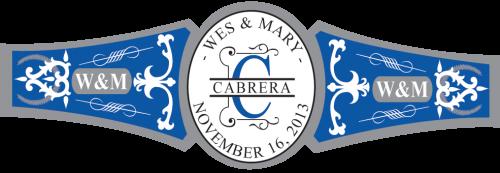 Royal Blue & Grey Cigar Labels