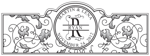 Vintage Black & White Personalized Cigar Label